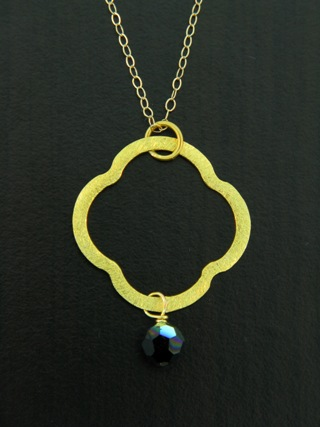 Moroccan Gold Vermeil Jet Black Necklace