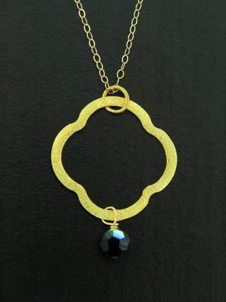 Moroccan Gold Vermeil Jet Black Necklace