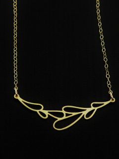 Gold Dew Drop Necklace