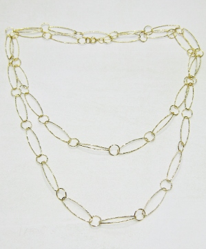 "36"" Gold Diamond Cut Combo Necklace"