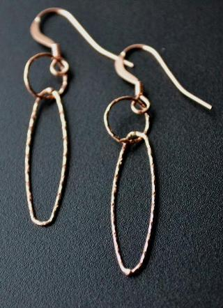 Rose Gold Diamond Cut Combo Earrings