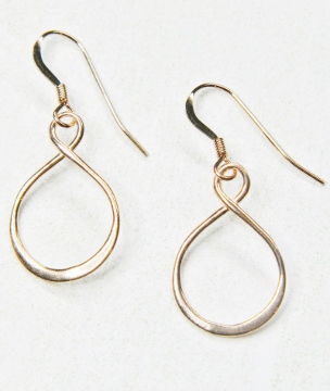 Rose Gold Eternity Earrings