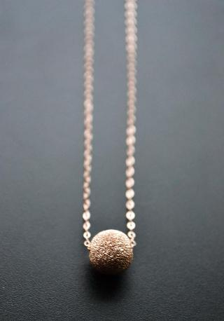 Rose Gold-Filled Stardust Ball Necklace