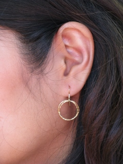 Gold-Filled Diamond Cut Circle Earrings