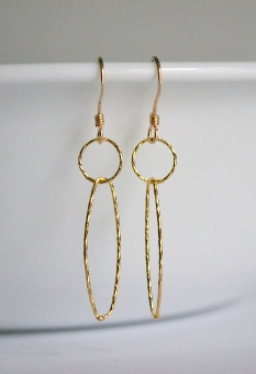 Gold Diamond Cut Combo Earrings