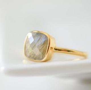 Labradorite Cushion Ring