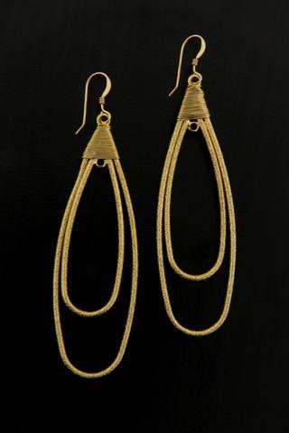 Gold Paperclip Earrings