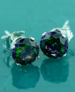 CZ Round Studs Earrings