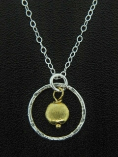Hammered Two-Tone Necklace Gold/Silver