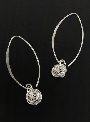 Marquise Earrings Mesh Ball -Large