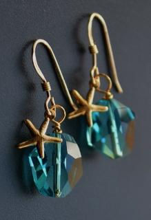 Gold Cosmic Starfish Earrings