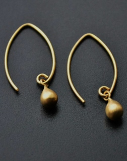 Gold Marquis Droplet Earrings