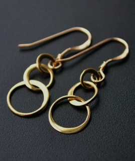 Gold Ringlet Earrings