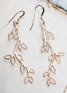 Rose Gold Vine Twigs Earrings