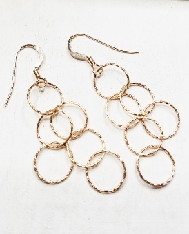 Rose Gold Spheres Earrings