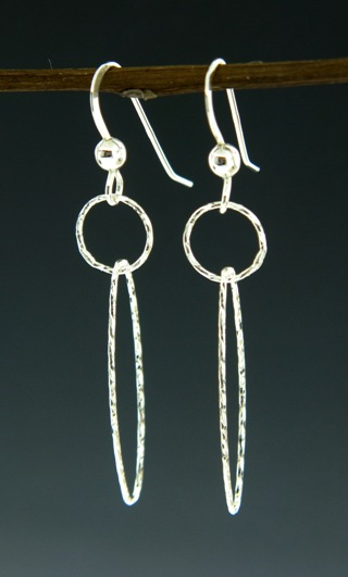 Silver Diamond Cut Earrings