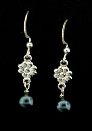 Tahitian Crystal Pearl Earrings