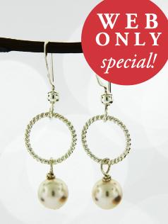 *Crystal Pearls w/ Ring Earrings
