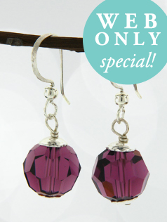 *Amethyst Drop Earrings
