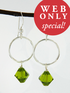 *Olivine w/ Ring Earrings