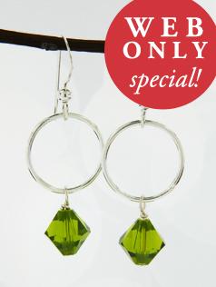*Olivine w/ Ring Earrings